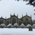 Kendal Parish Church in the snow 2018