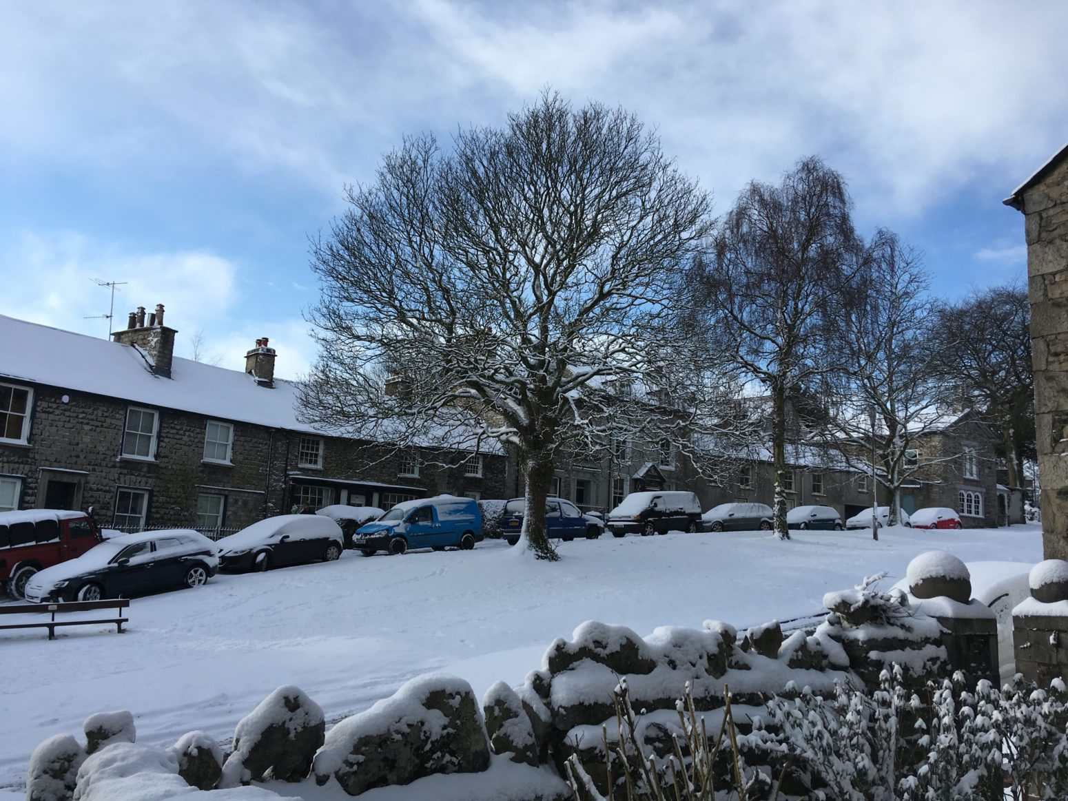 Hillside Kendal in the snow